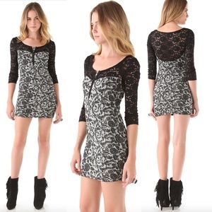 Free People Love You To Pieces Dress Lace Bodycon